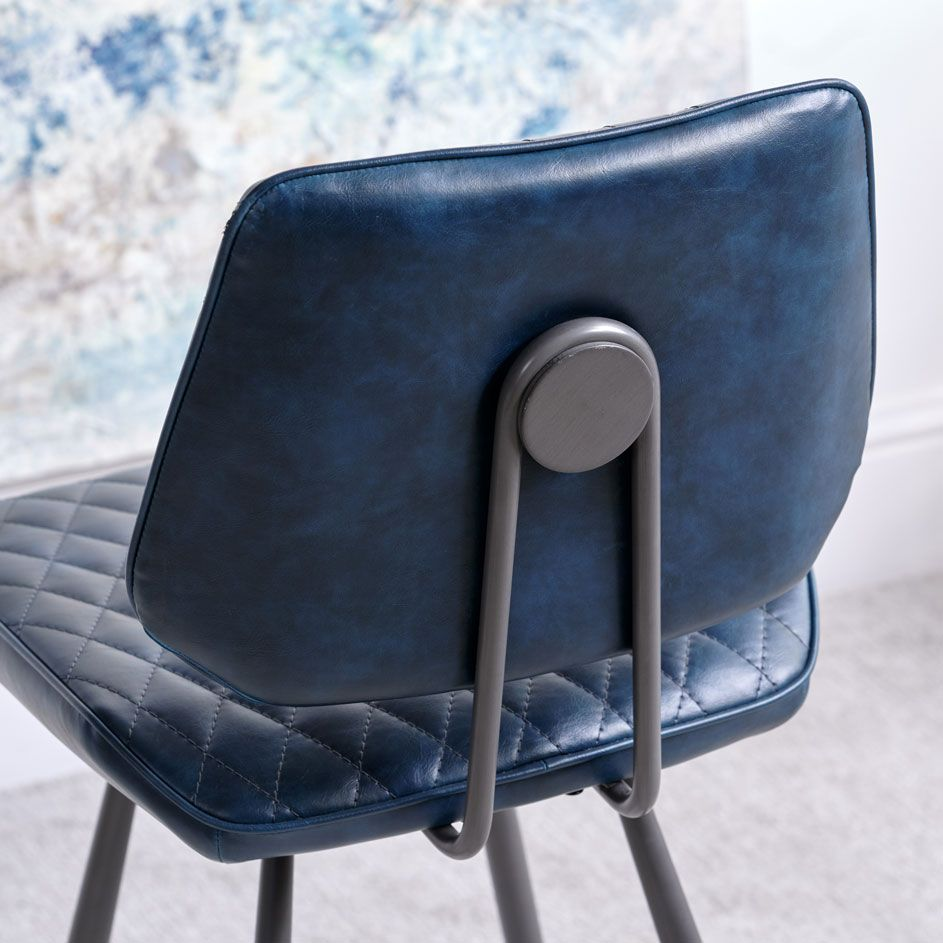 NEMOX BLUE STOOL - BACK DETAIL..