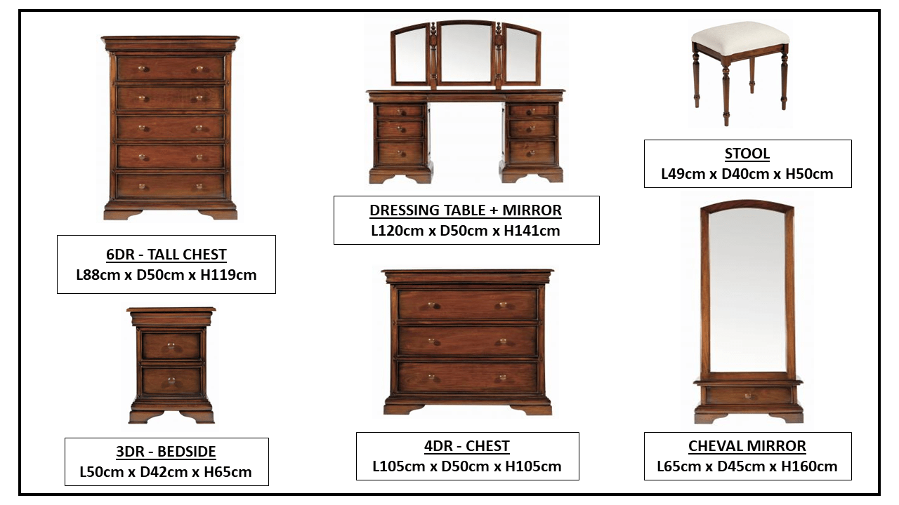 NORMANDIE BEDROOM FURNITURE