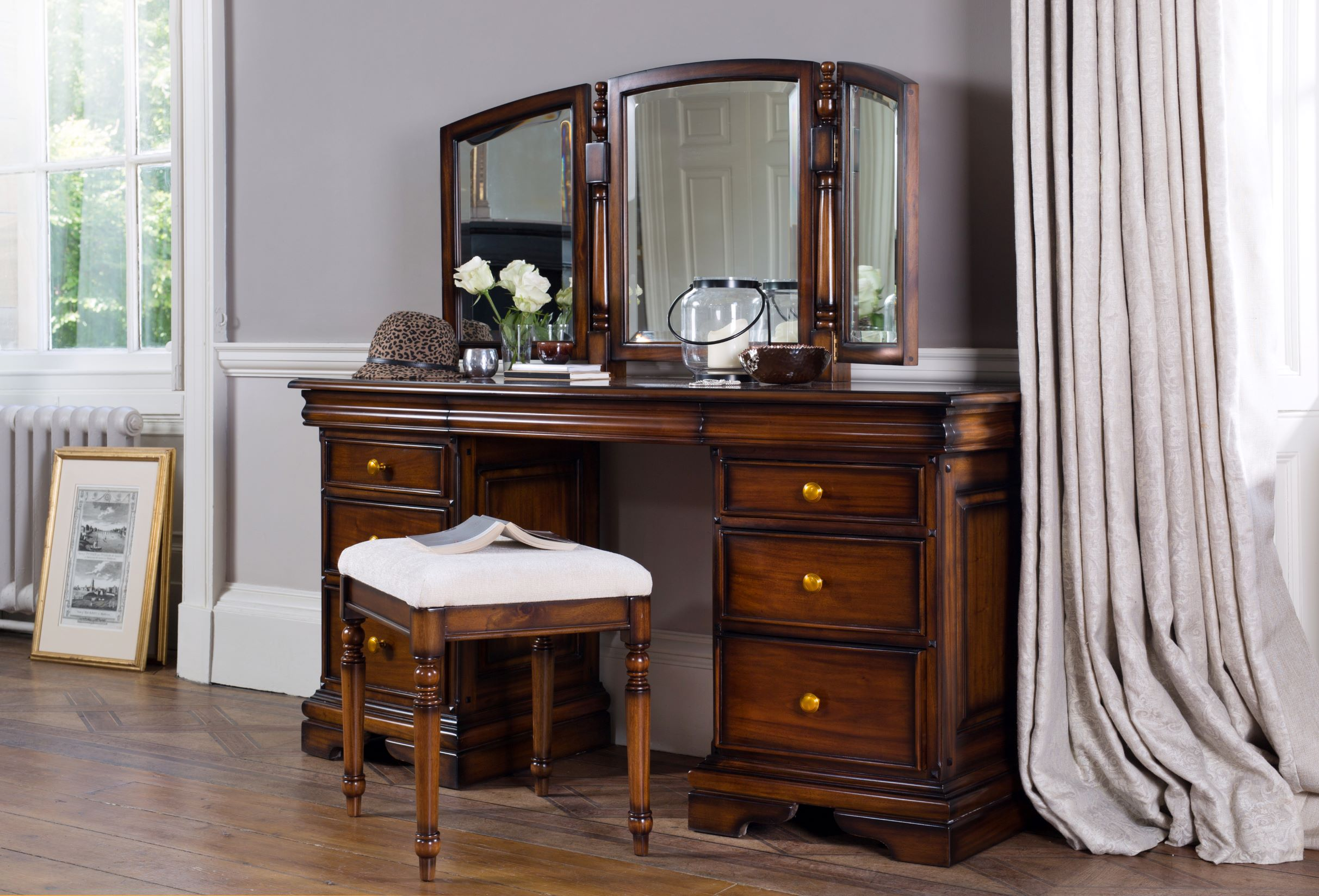 NORMANDIE DRESSING TABLE - L120cm x D50cm x H141cm