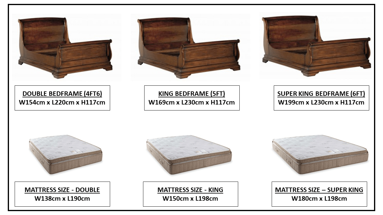 NORMANDIE HIGH ENS BED FRAME OPTIONS