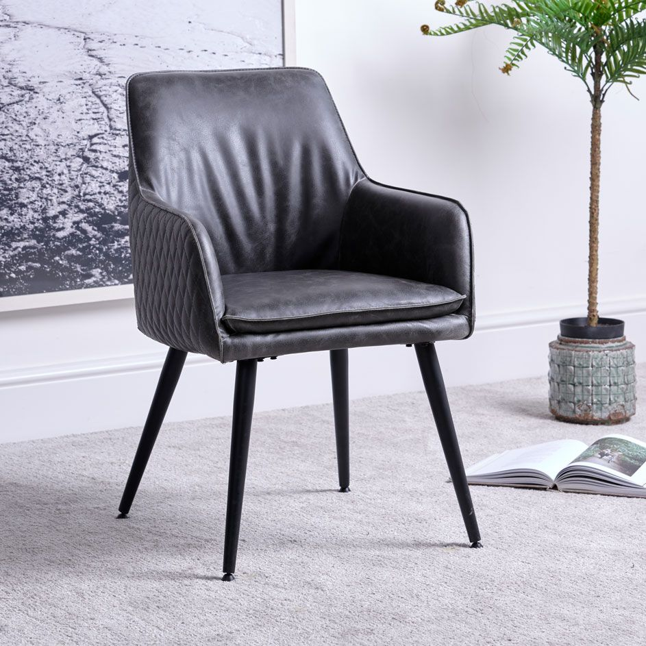ORLANDO GREY DINING CHAIR
