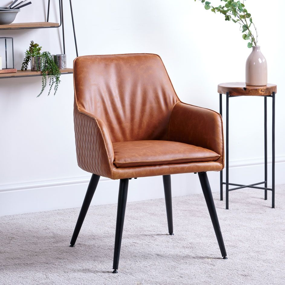ORLANDO TAN DINING CHAIR