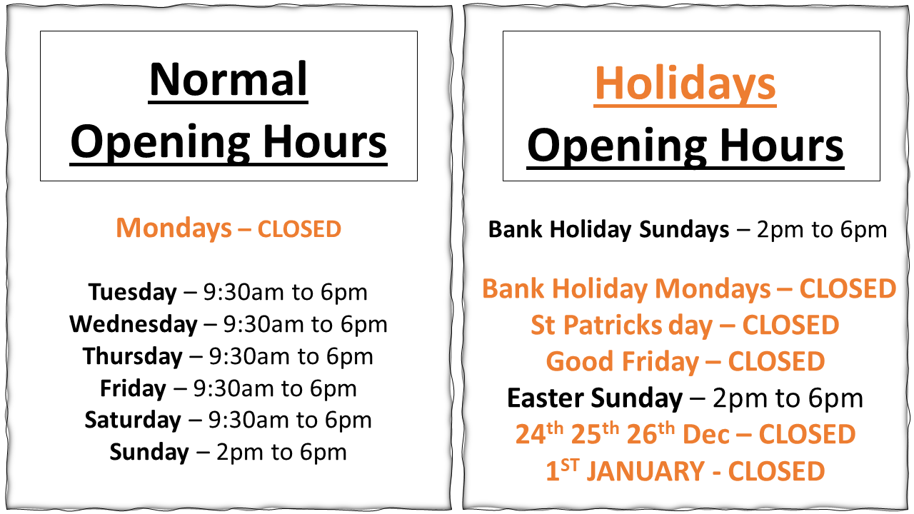 final opening times