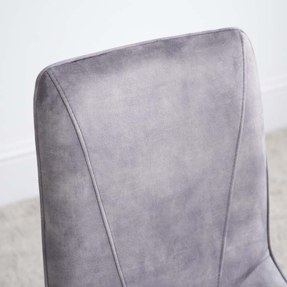 LOTTI GREY CHAIR FABRIC CLOSE UP