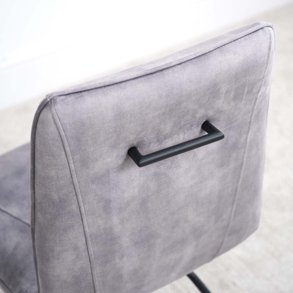 LOTTI GREY CHAIR HANDLE DETAIL