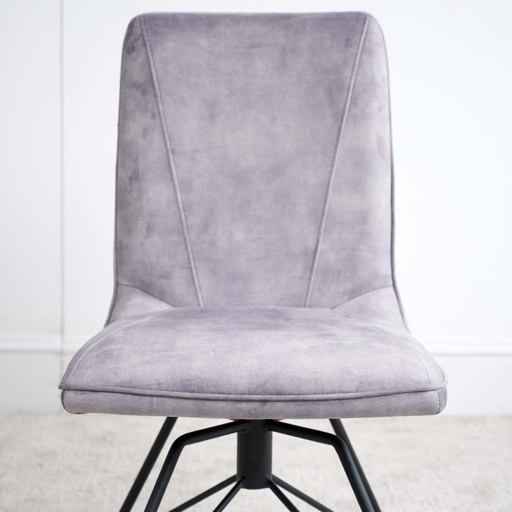LOTTI GREY CHAIR SEAT DETAIL