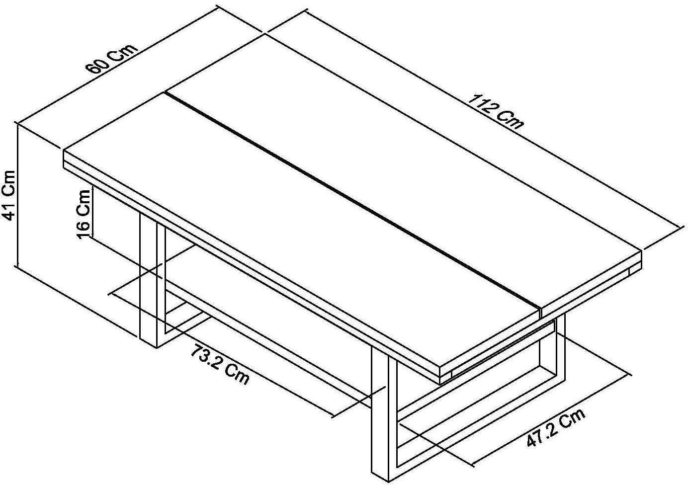 BRINDISI COFFE TABLE DIMENSIONS