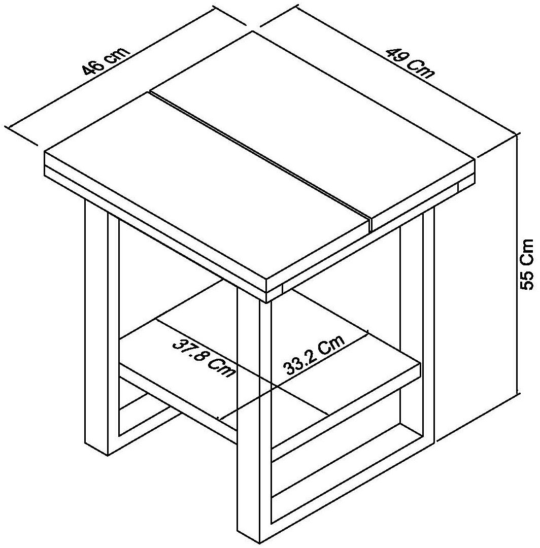 BRINDISI LAMP TABLE - DIMENSIONS