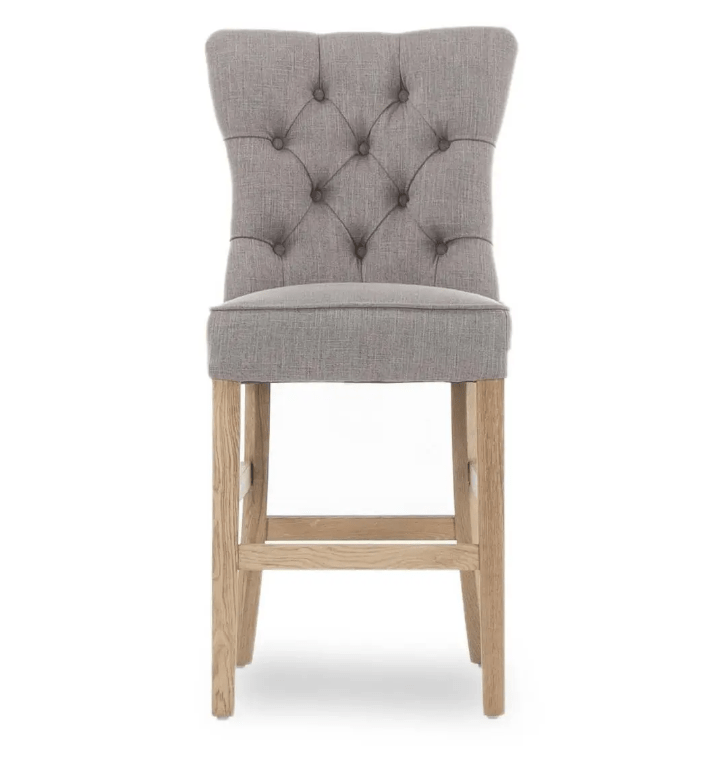 EVIAN GREY COUNTER STOOL - FRONT DETAIL