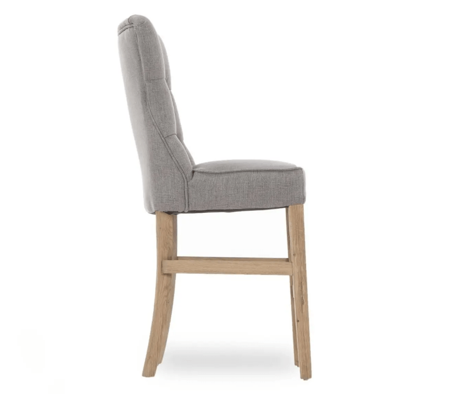 EVIAN GREY COUNTER STOOL - SIDE DETAIL